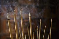 Incense sticks burning. - Alex Mares-Manton