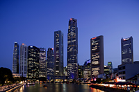Singapore,Singapore River and City Skyline - Travelasia