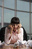 Indian woman stressed at work - Alex Mares-Manton
