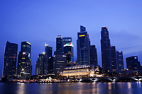 Singapore, city skyline of Marina Day at night - Travelasia