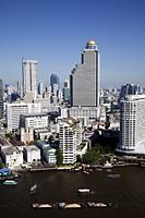Thailand,Bangkok,City Skyline and Chao Phraya River - Travelasia