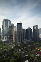 Office buildings along Jalan Jend Sudirman, Jakarta, Indonesia - Martin Westlake