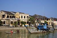 Vietnam,Hoi An,Town Skyline and Thu Bon River - Travelasia