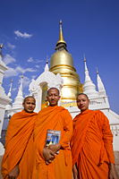 Thailand,Chiang Mai,Monks at Wat Suan Dok - Travelasia