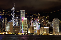Hong Kong side skyline at night - Alex Mares-Manton