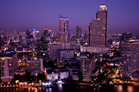 Thailand,Bangkok,City Skyline and Chao Phraya River - Travelasia