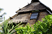 solar panel on thatched hut - Alex Mares-Manton
