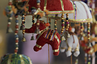 Indian decorations with elephants and bells - Alex Mares-Manton
