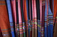 Vietnam,Hoi An,Silk Shop Fabric Display - Travelasia