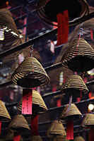 Incense coils hanging from Man Mo Temple, Hong Kong - Alex Mares-Manton