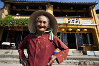 Vietnam,Hoi An,Portrait of Elderly Woman - Travelasia