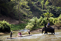 Thailand,Chiang Mai,Tourists River Rafting on Maetang River - Travelasia