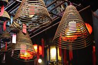 incense coils hanging from Man Mo Temple, Hong Kong - Alex Mares-Manton