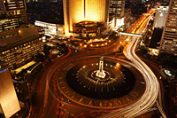 Evening view of Hotel Indonesia roundabout, Welcome Monument along Jalan Thamrin, Jakarta - Martin Westlake