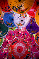 Thailand,Chiang Mai,Umbrella Display at Borsang Village - Travelasia