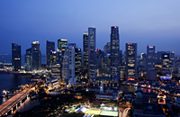 Singapore,City Skyline of CBD at night - Travelasia