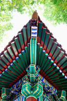 Tibetan Lama Temple or Yonghe Gong, roof detail - Travelasia
