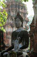 Stone Buddha at Ayutthaya, Thailand - Alex Mares-Manton