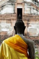 Rear view of stone Buddha at Wat Yai Chaya Mongkol Temple, Thailand - Alex Mares-Manton