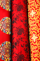 China,Beijing,The Silk Market,Detail of Silk Fabrics - Travelasia