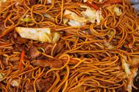 Detail shot of Japanese noodles. - Travelasia