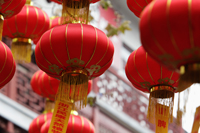 A group of hanging red lanterns - Alex Mares-Manton