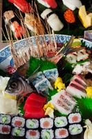 Japan,Tokyo,Tsukiji,Sushi Shop Window Display - Travelasia