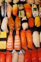 Restaurant window display of plastic sushi. Tokyo, Japan - Travelasia