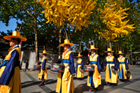 Deoksugung Palace, Ceremonial Guards in Traditional Uniform. Korea - Travelasia