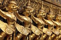 Gold statues at Grand Palace, Bangkok Thailand - Alex Mares-Manton