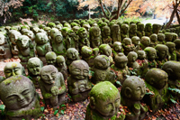 Otagi Nembutsu-ji Temple,Carved Stone Figures of Rakan,Disciples of Shaka the founder of Buddhism - Travelasia