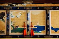 Nijo Castle,Interior of Ninomaru Palace,Detail of Painted Screens. Kyoto, Japan - Travelasia