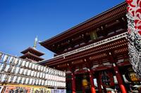 Japan,Tokyo,Asakusa,Asakusa Kannon Temple, Hozomon Gate - Travelasia