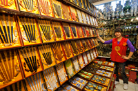 China,Beijing,The Silk Market,Shop Selling Chopsticks - Travelasia