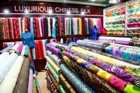 The Silk Market,Material and Silk Shop. Beijing, China - Travelasia