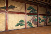Nijo Castle,Interior of Ninomaru Palace, Detail of Painted Screens. Kyoto, Japan - Travelasia