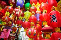 The Silk Market, paper lanterns. Beijing, China - Travelasia