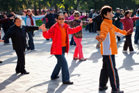 China,Beijing,Summer Palace Park,Woman Exercising - Travelasia