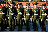 China,Beijing,Peoples' Liberation Army (PLA) Soldiers at Tiananmen Square - Travelasia