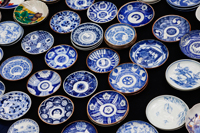Pottery Display at the Oedo Monthly Antique Market at the Tokyo International Forum Building, Japan, Yurakucho, - Travelasia
