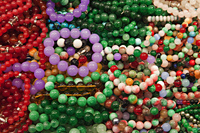 Jade bracelets at the Jade Market.  Hong Kong, China - Travelasia