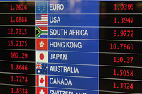 Currency exchange sign - Travelasia