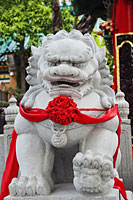 Tai Sin Wong Temple, Stone Lion Statue. China,Hong Kong, - Travelasia