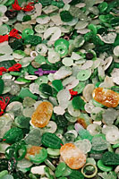 Jade charms at the Jade Market, Hong Kong, China - Travelasia