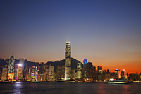 Hong Kong City Skyline and Victoria Peak at dusk. - Travelasia