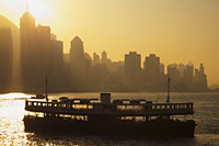 Star Ferry and City Skyline at Dawn, Hong Kong, China - Travelasia