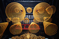 Sam Kai Vui Kun Temple, Incense Coils, Macau, China - Travelasia