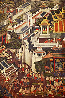 Wall Mural in the Main Chapel, Wat Pho, Bangkok, Thailand - Travelasia