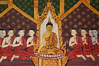 Wall Murals in the Hall of the Reclining Buddha, Wat Poh, Bangkok, Thailand - Travelasia