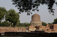 Dhamekh Stupa, site of Buddha's first sermon. Sarnath, India - Alex Mares-Manton